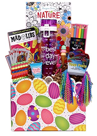 Amazon girl stuff easter gift basket for girls and tweens girl stuff easter gift basket for girls and tweens negle Image collections