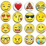 LimBridge 16 Pack Refrigerator Magnets, Emoji Magnets Fridge Magnets 3D Funny Cute for School Lockers Accessories Set