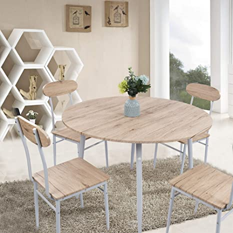 Outstanding Dporticus 5 Piece Kitchen Dining Set Kitchen Table And Chairs With Metal Legs Onthecornerstone Fun Painted Chair Ideas Images Onthecornerstoneorg