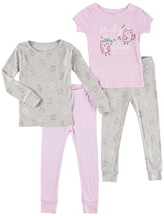 c851bff24915 Amazon.com  Carter s Girls  12M-12 4 Piece Owl Party Pajama Set ...