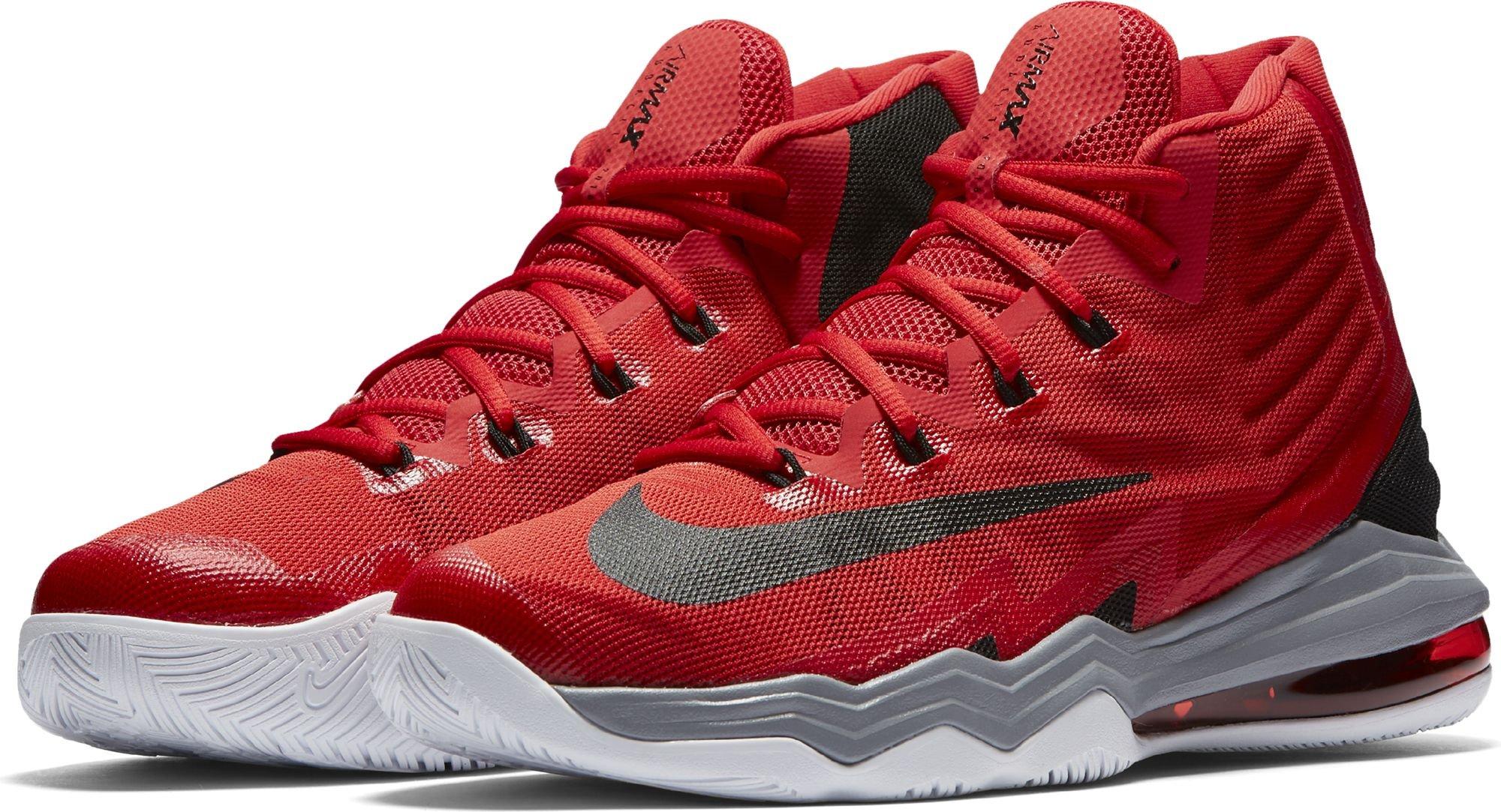 NikeAir Max Audacity 2016 - Scarpe da Basket Uomo , rosso (University Red/Weiß/Stealth/Schwarz), 43