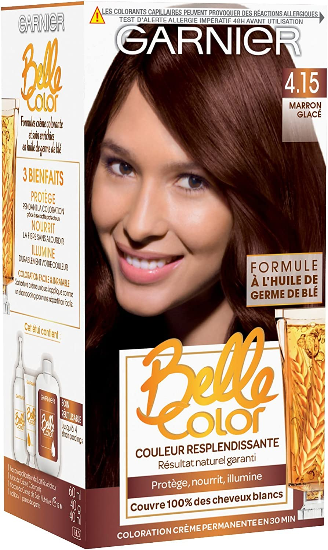 Garnier - Belle Color - Coloration permanente Châtain - 4.15 Marron glacé naturel