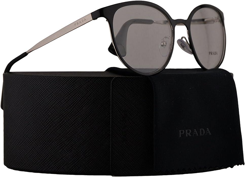 d432b6fbd7a Prada PR53TV Eyeglasses 52-19-135 Shiny Black w Demo Clear Lens 1AB1O1