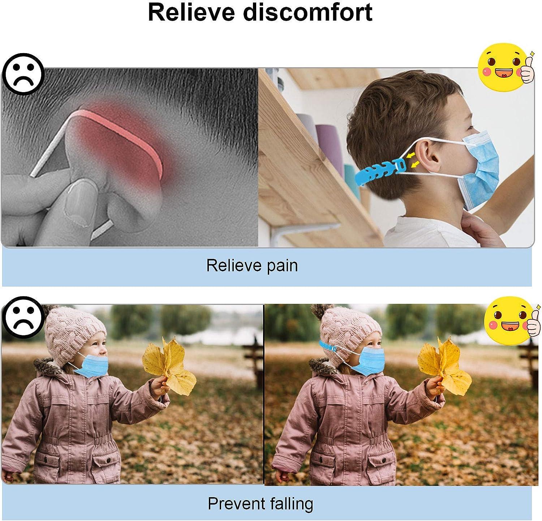 BLU Fibbia di Prolunga per Adulti Bambini e Anziani WOWDSGN Accessori Prolunga Regolabili,12 Pezzi Protezione Orecchio Antiscivolo per Mascherine
