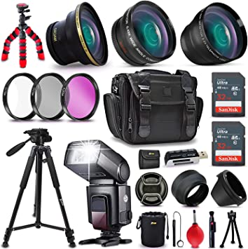 12 Accessories for Nikon Professional 52MM Accessory Bundle Kit for Nikon D3300 D3200 D3100 D5000 D5100 D5200 D5300 D5500 D7000 D7100 D7200 /& DSLR Cameras