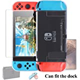 Dockable Case for Nintendo Switch [Updated],FYOUNG Protective Cover Case for Nintendo Switch and Nintendo Switch Joy-Con Controller with a Tempered Glass Screen Protector