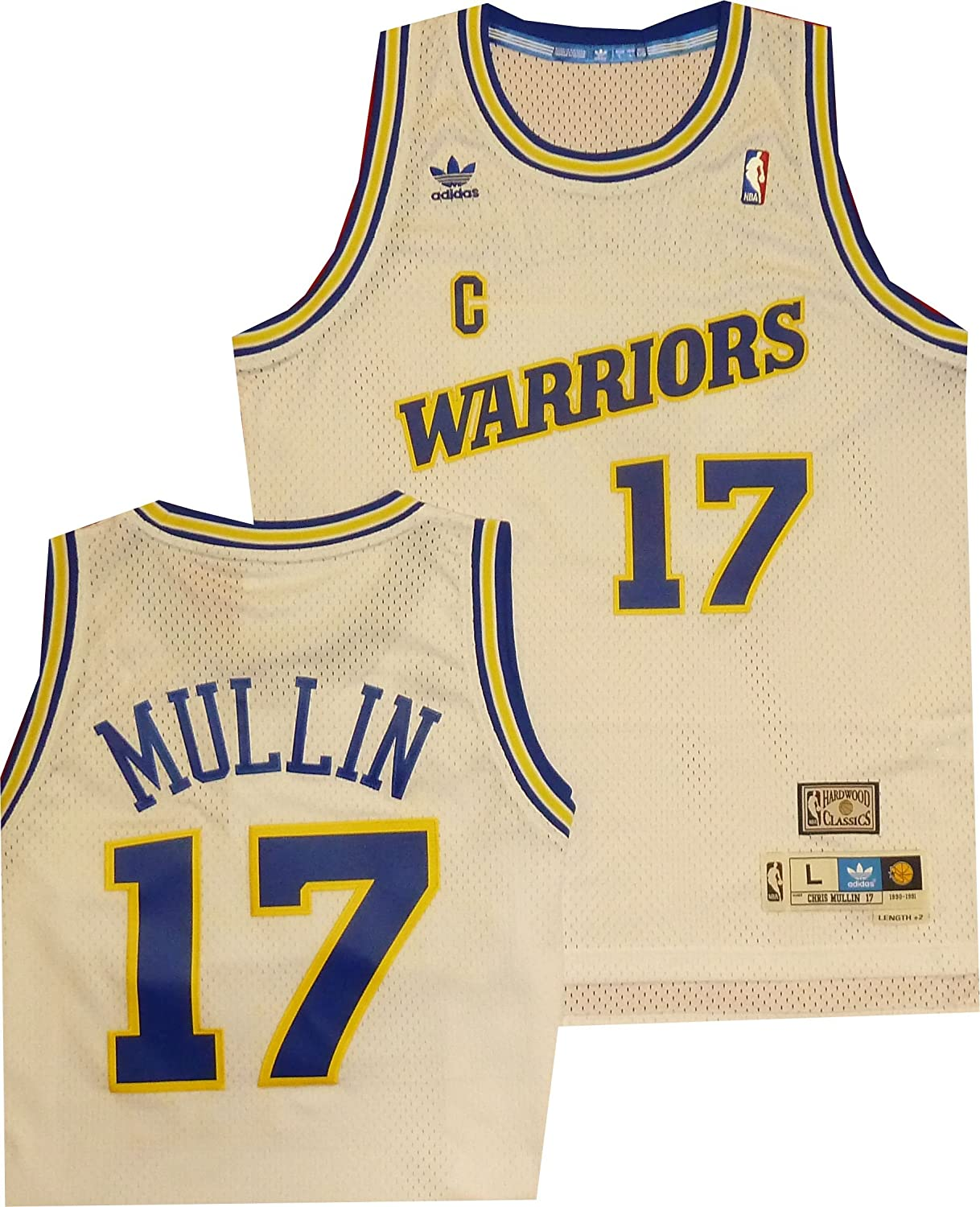 finest selection bb910 05f1a Golden State Warriors Chris Mullin White Throwback Swingman 7484A Jersey