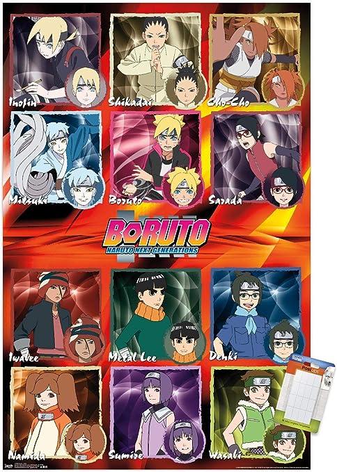 Trends International Boruto: Naruto Next Generations - Grid Wall Poster, 22.375
