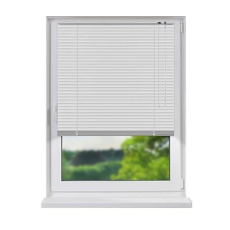 Aluminium Jalousie, Jalousette, Jalousie ohne Bohren, zum Klemmen, einfache Montage, Tür und Fenster, Sicht- und Lichtschutz,