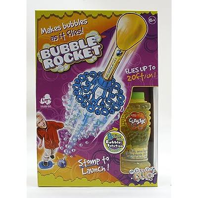 Lanard Toys Bubble Rocket & 16oz Bubble Solution: Toys & Games