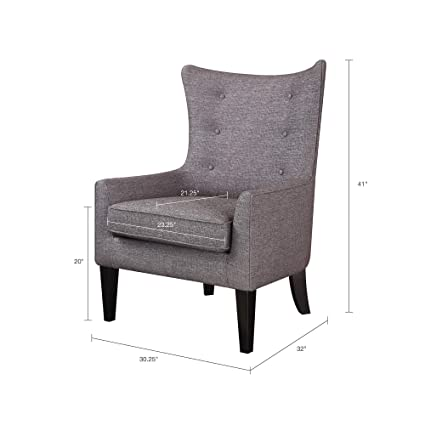 Astonishing Madison Park Fmy007Blk Carissa Accent Chairs Hardwood Plywood Button Tufted Wing Back Living Armchair Modern Classic Style Family Room Sofa Pabps2019 Chair Design Images Pabps2019Com