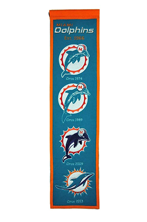 6645ff114 Image Unavailable. Image not available for. Color  NFL Miami Dolphins  Heritage Banner