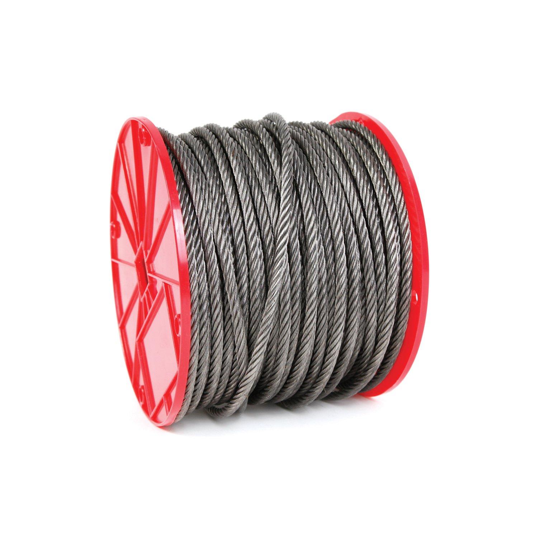Koch Industries 019292 6 x 19 Wire Rope, Fiber Core 3/8-Inch by 250-Feet, 11-Inch Reel