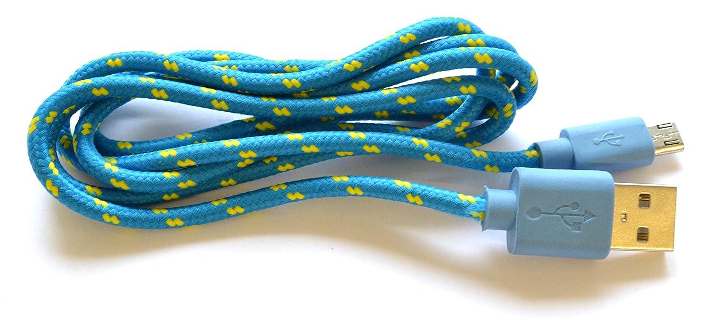 1 Meter Micro USB Kabel Textil geflochten blau: Amazon.de: Computer ...