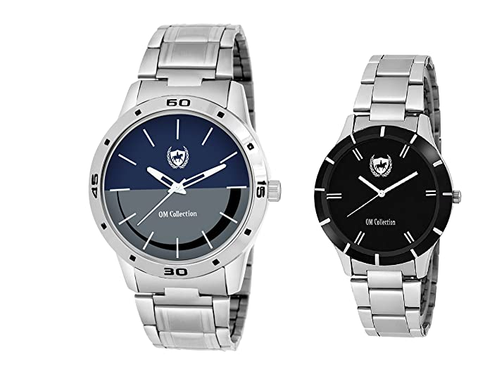 Analogue Blue & Black Dial Men's & Women's Couple Watch - Omwp-1