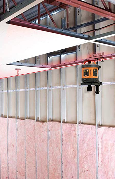 Install ceiling grid with laser level