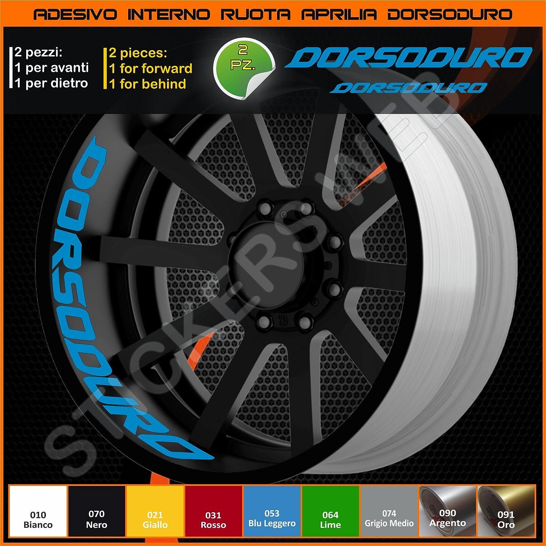 070 Nero Aprilia Dorsoduro adesivi ruote interno strisce cerchi decalcomanie strip cerchioni Cod 0277