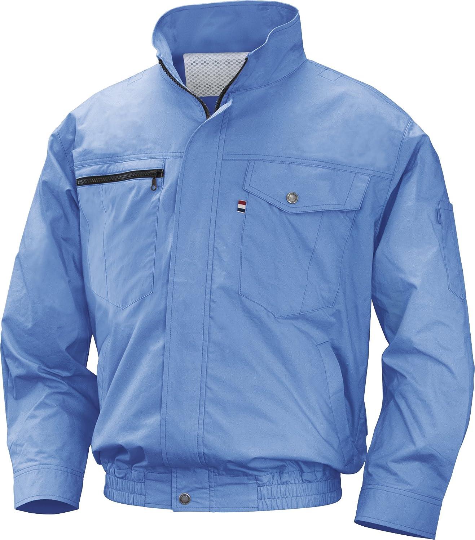 NSP 空調服バッテリーセット NA-201A ライトブルー 綿 立ち襟 サイズ2L 8209833 B07BFV9YYF 2L 2L