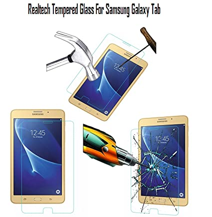 Realtech Tempered Glass Screen Protector for Samsung Galaxy Tab A 8.0 SM T350, T351, T355 Screen Protectors
