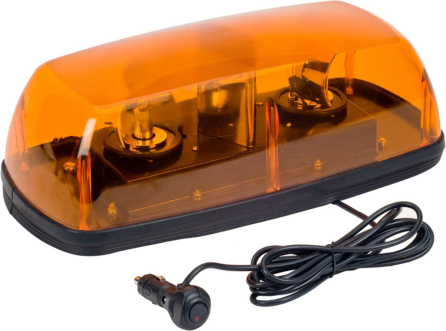 Wolo 3570M-A 12V Exterior Rotating Warning Light with 2 Halogen Bulbs