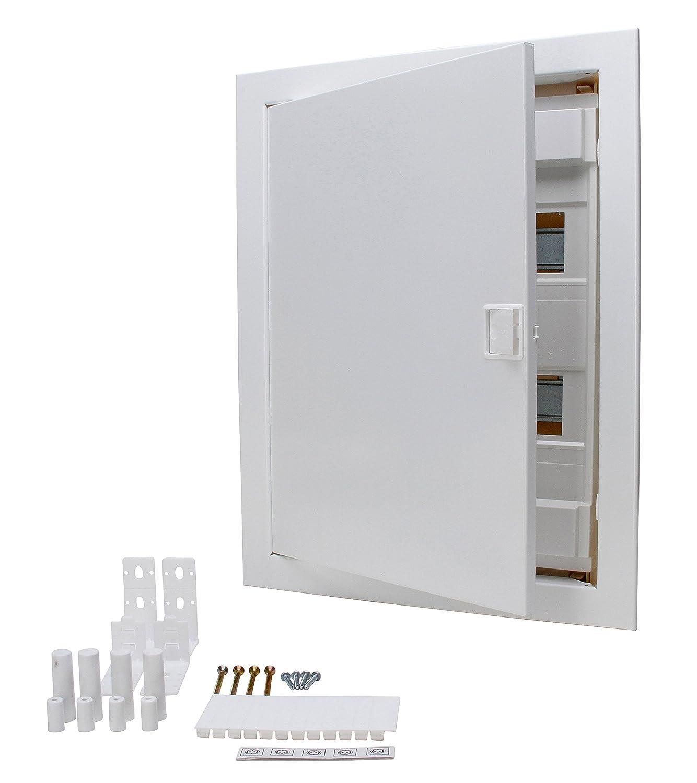 Kopp Flush-mounted cavity wall Fuse Box with Metal Door 2 ... on