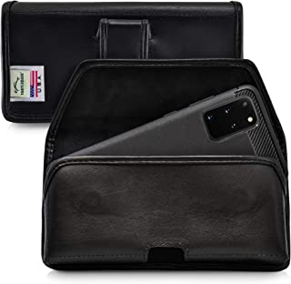product image for Turtleback Holster Designed for Galaxy S20+ S21+ Plus (2020) Belt Case Black Leather Pouch with Executive Belt Clip, Horizontal Made in USA