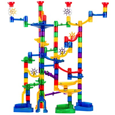 Marble Genius Marble Run Super Set - 150 Complete Pieces + Free Instruction App (85 Translucent Marbulous Pieces + 65 Glass Marbles): Toys & Games