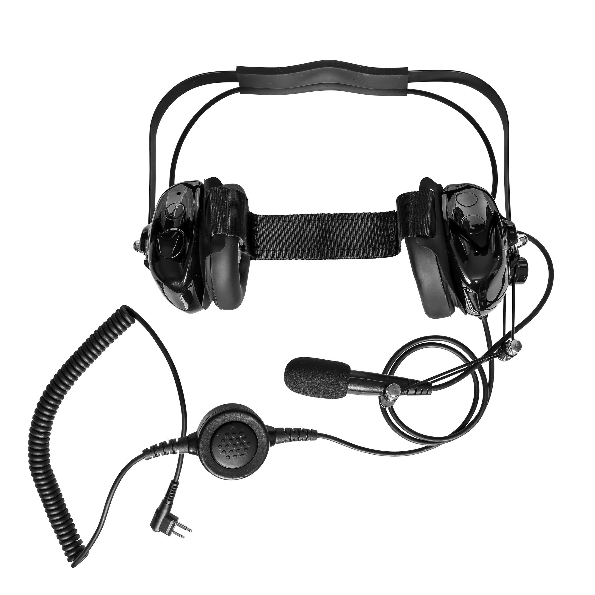 Maxtop AHDH0032-BK-M1 Two Way Radio Noise Cancelling Headset for Motorola CP200 CP200D BPR40 EP450 BearCom BC130