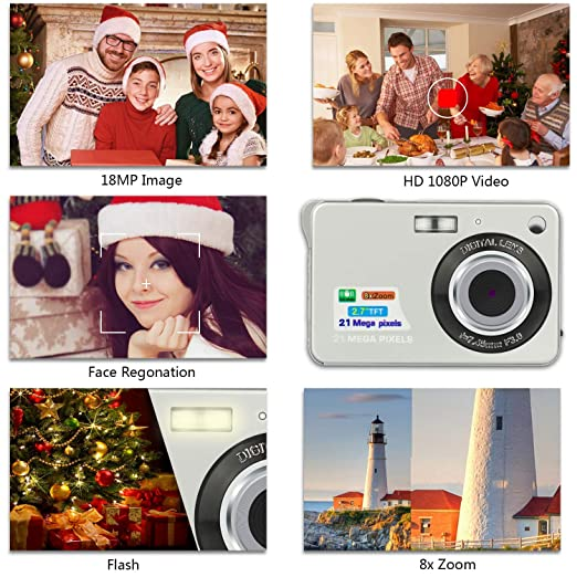 Amazon.com : HD Mini Digital Video Cameras for Kids Teens Beginners, Point and Shoot Digital Video Recorder Cameras-Travel, Camping, Outdoors : Camera & ...