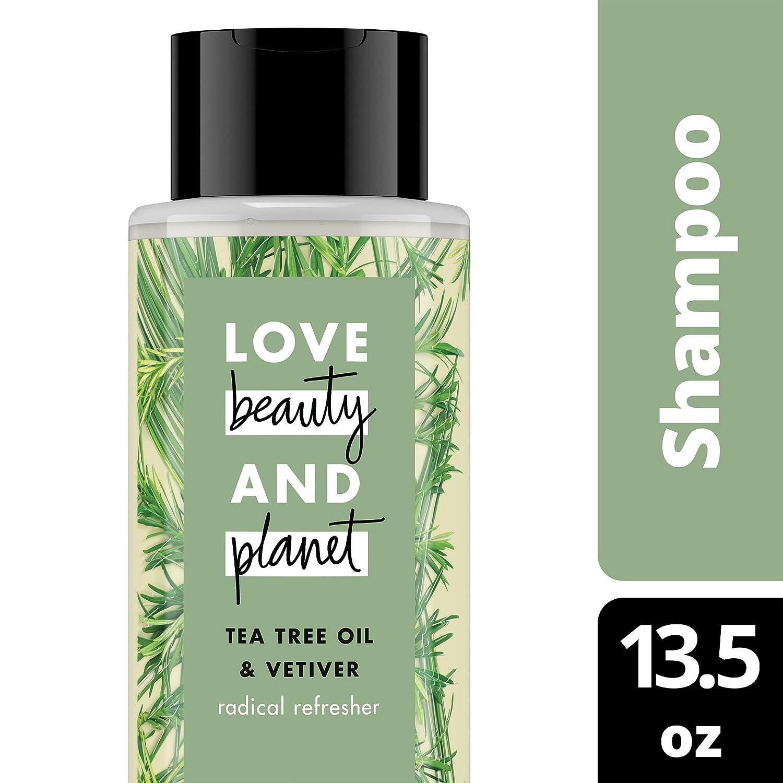 Love Beauty and Planet Radical Refreshner Tea Tree Oil & Vetiver Clarifying Shampoo 13.5 oz