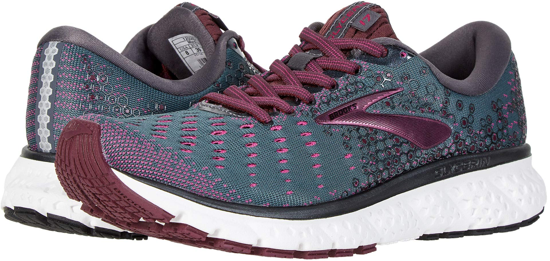 Brooks Women's Glycerin 17 Ebony/Wild Aster/Fig 6 B US by Brooks