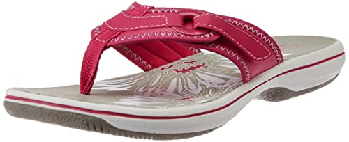 cea3a83391ea01 Clarks Womens Casual Clarks Brinkley Mila Synthetic Sandals In Pink ...