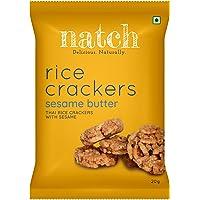 Natch Rice Crackers, Gluten-Free, Vegan | (Sesame Butter) (Pack of 5)