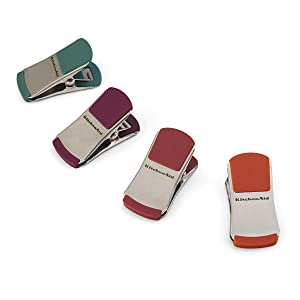 KitchenAid Gourmet Set of 4 Small Bag Clips, Assorted