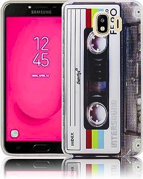 thematys® Samsung Galaxy J4 2018 Cassette Retro Funda de Silicona para el teléfono Celular: Amazon.es: Electrónica