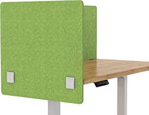 "VaRoom Acoustic Partition, Sound Absorbing Desk Divider – 24"" W x 24""H Privacy Desk Mounted Cubicle Panel, Pear Green"
