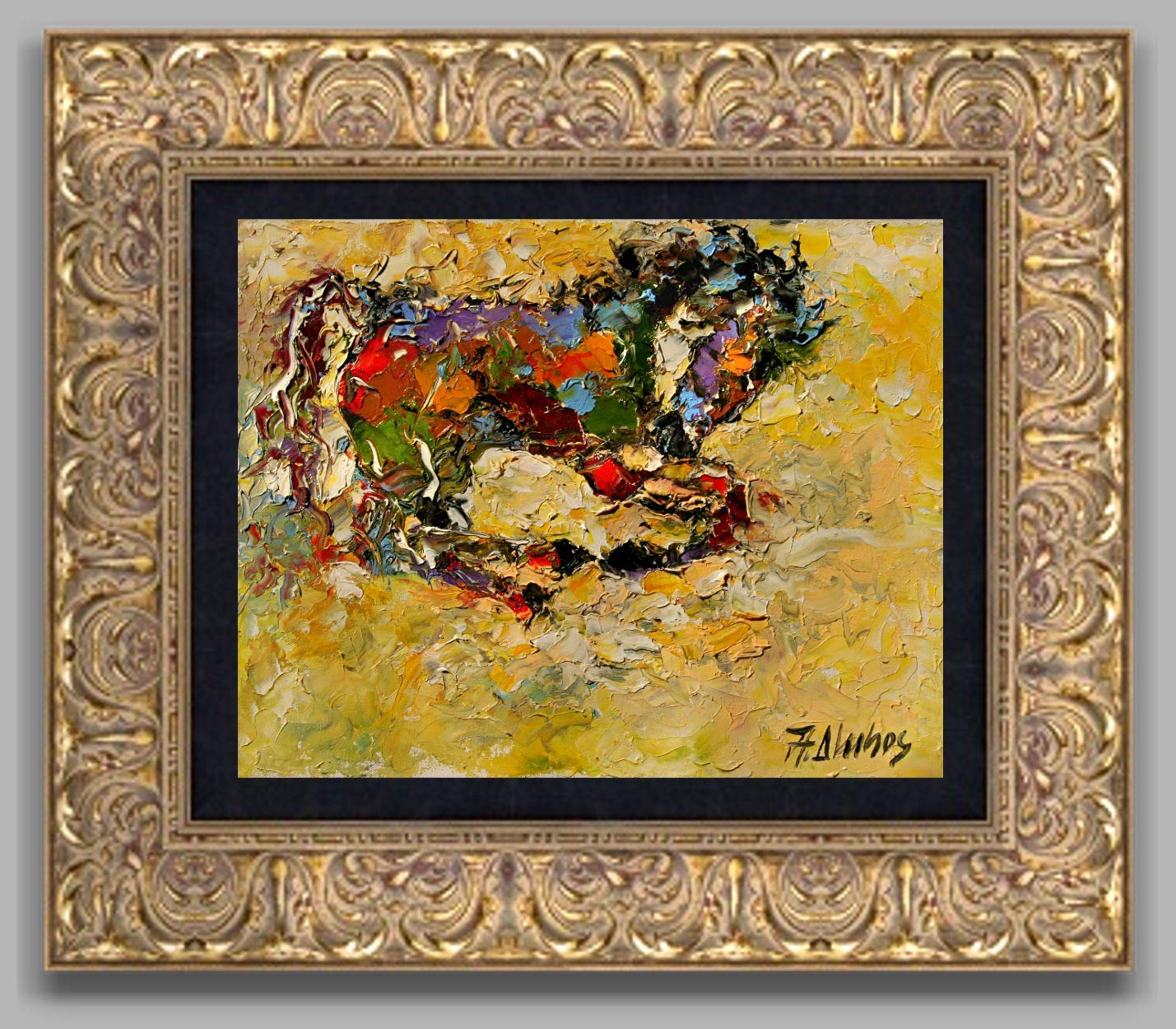 Valiant Equine horse painting by internationally renown painter Andre Dluhos