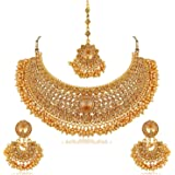 I Jewels Gold Plated Jewellery Set for Women