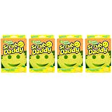 Scrub Daddy Sponge - Lemon Fresh Scent - Scratch-Free Scrubber for Dishes and Home, Odor Resistant, Soft in Warm Water, Firm