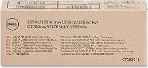 Dell MHT79 Magenta Toner Cartridge 1250c/1350cnw/1355cn/1355cnw/C1760nw/C1765nf/C1765nfw Color Printers