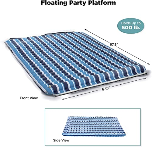 Large Inflatable Floating Dock (Mat, Raft, Island) [Aqua] Picture