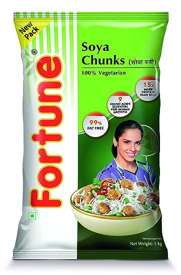 Fortune SOYA Chunks / SOYA Badi, 1kg Pouch