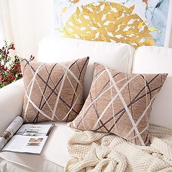 Amazon.com: MerneTTE Funda de almohada decorativa, fundas de ...