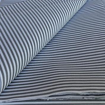 Tela de Rayas (3mm) por metros. Fabricada en España. (Gris): Amazon.es: Hogar