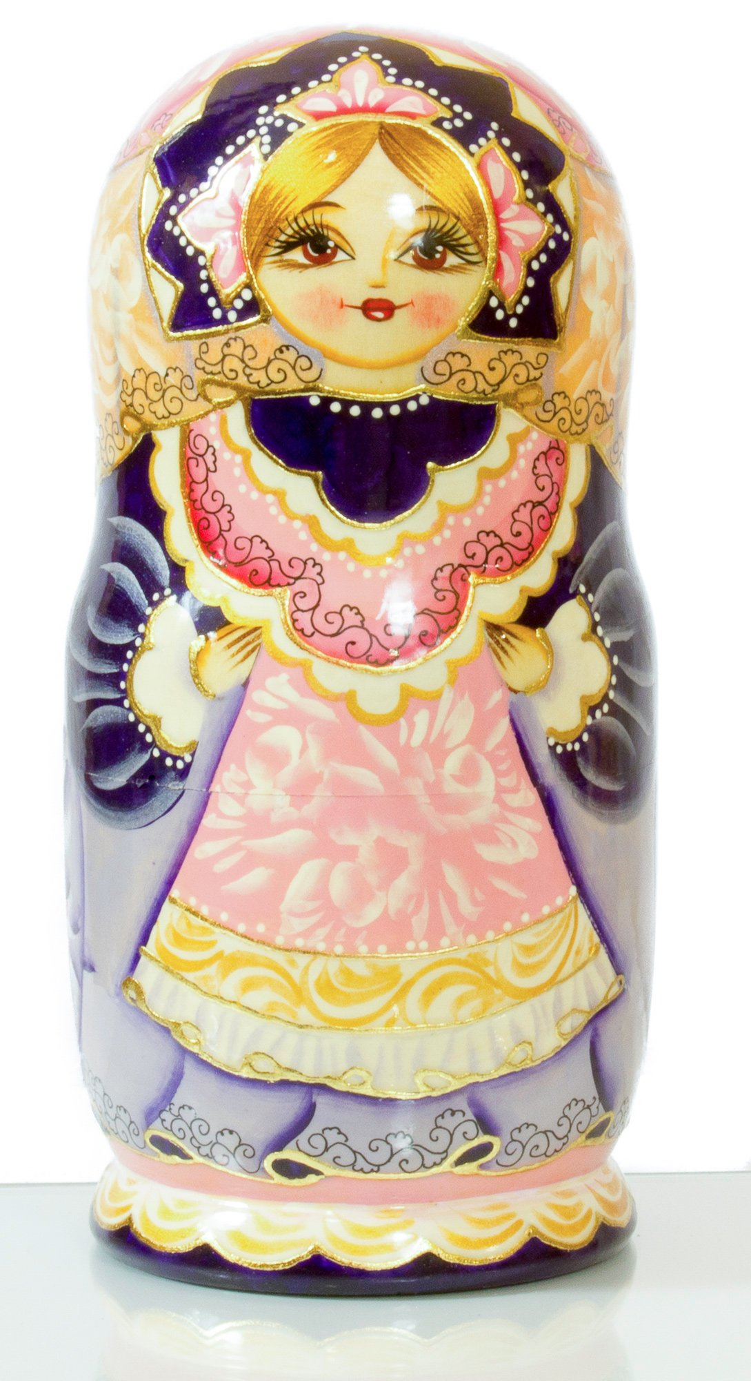 Russian Nesting Doll - Hand Painted in Russia -- BIG SIZE - ''Schoolgirl''- Traditional Matryoshka Babushka (8.25``(7 dolls in1), Style:Schoolgirl)