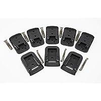 Tool Wrangler – 8Pkg BLACK Tool & Battery Mounts | 8Pk Combo 5+3 (5 Tool Holders & 3 Battery Holders) For Dewalt 20V…