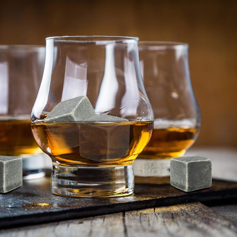 anthracite Relaxdays Pierres /à whisky r/éutilisables pour rafra/îchir cube gla/çons bo/îte sac HxlxP 3,5 x 10 x 8 cm