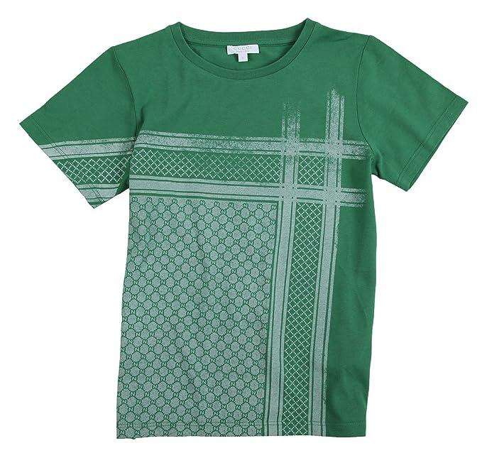 Gucci - Camiseta de Manga Corta - para niño Verde 8 años: Amazon.es: Ropa y accesorios