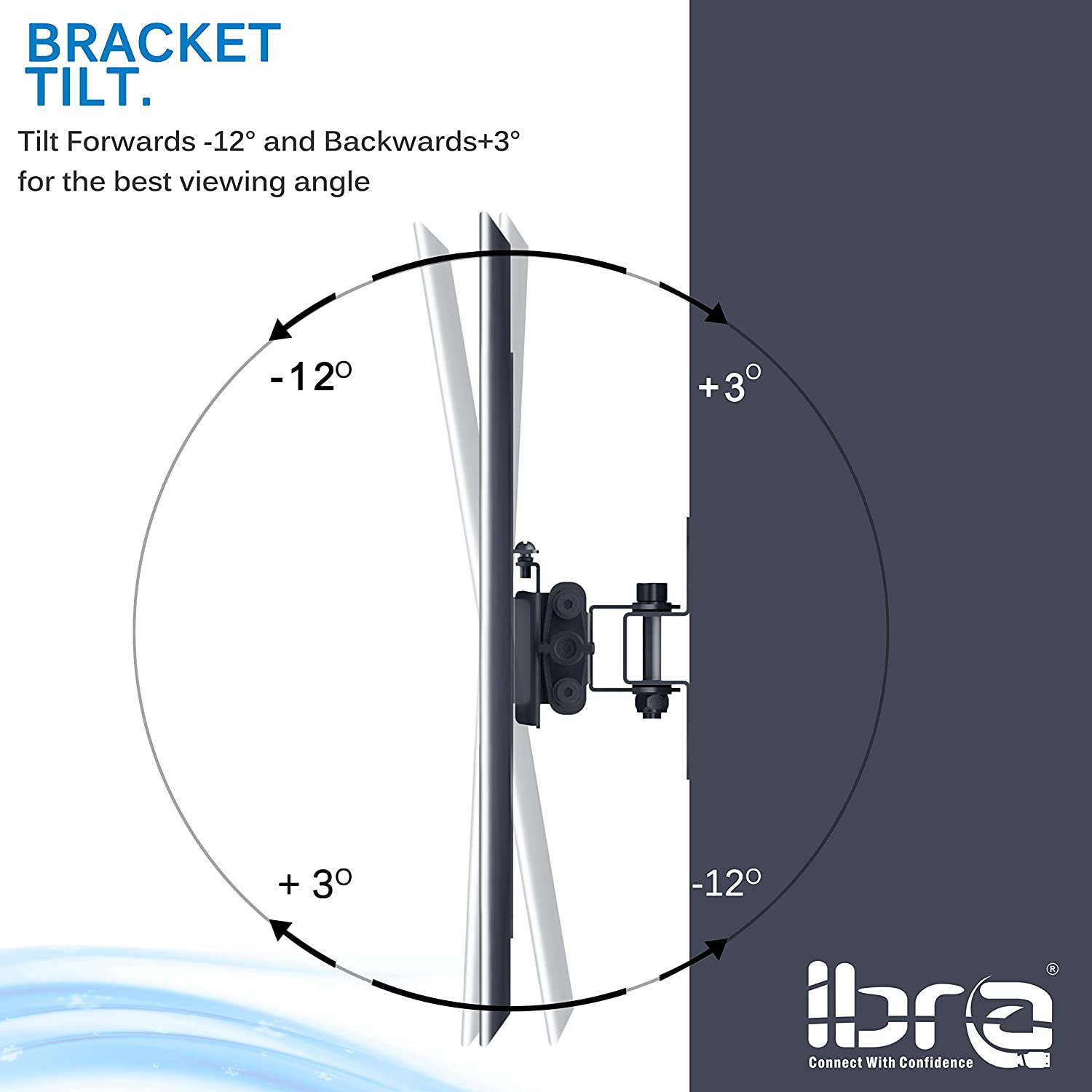 IBRA Flat TV Mount for LED/&LCD TV Sizes from 23~ 42 Tilt and Swivel Mount with Lockable system,cable management with Integrated Spirit Level.