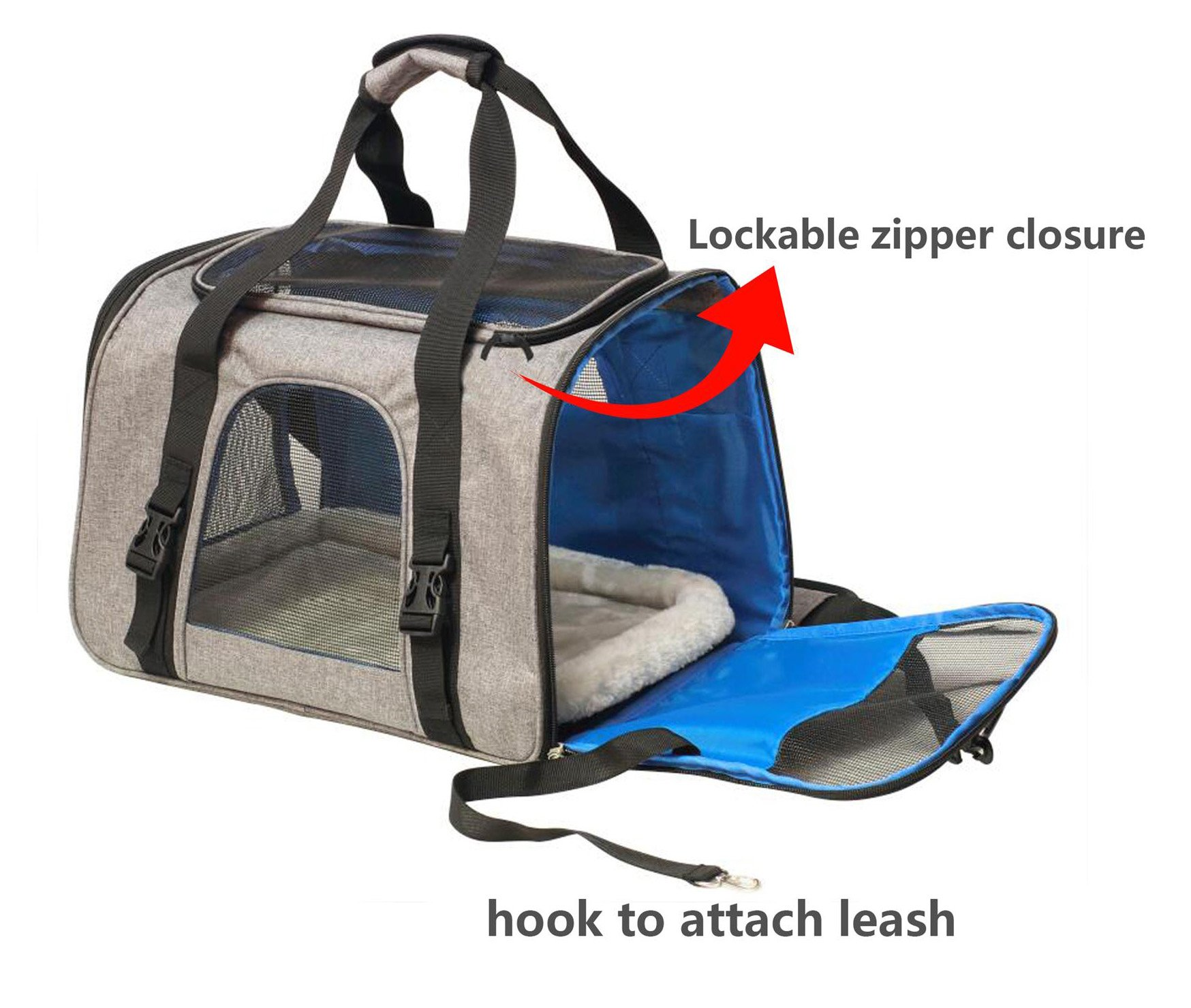 Travel peat dog cat carrier by Eugene's. New Generation of dog carriers Airline Approved Under Seat Compatible. dog cat pet puppy bag carrier for small pets. by Eugene's (Image #1)